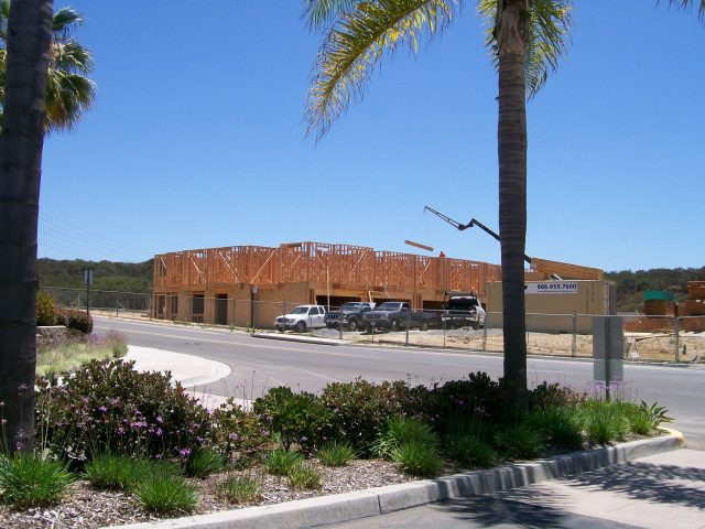 Construction progress at Voscana by Shae Homes in Carlsbad, CA