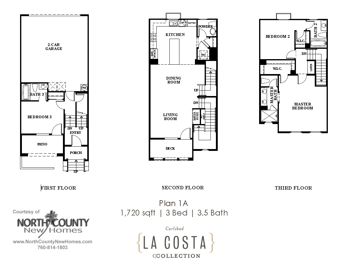 La costa collection floor plans plan 1a north county for New floor plans