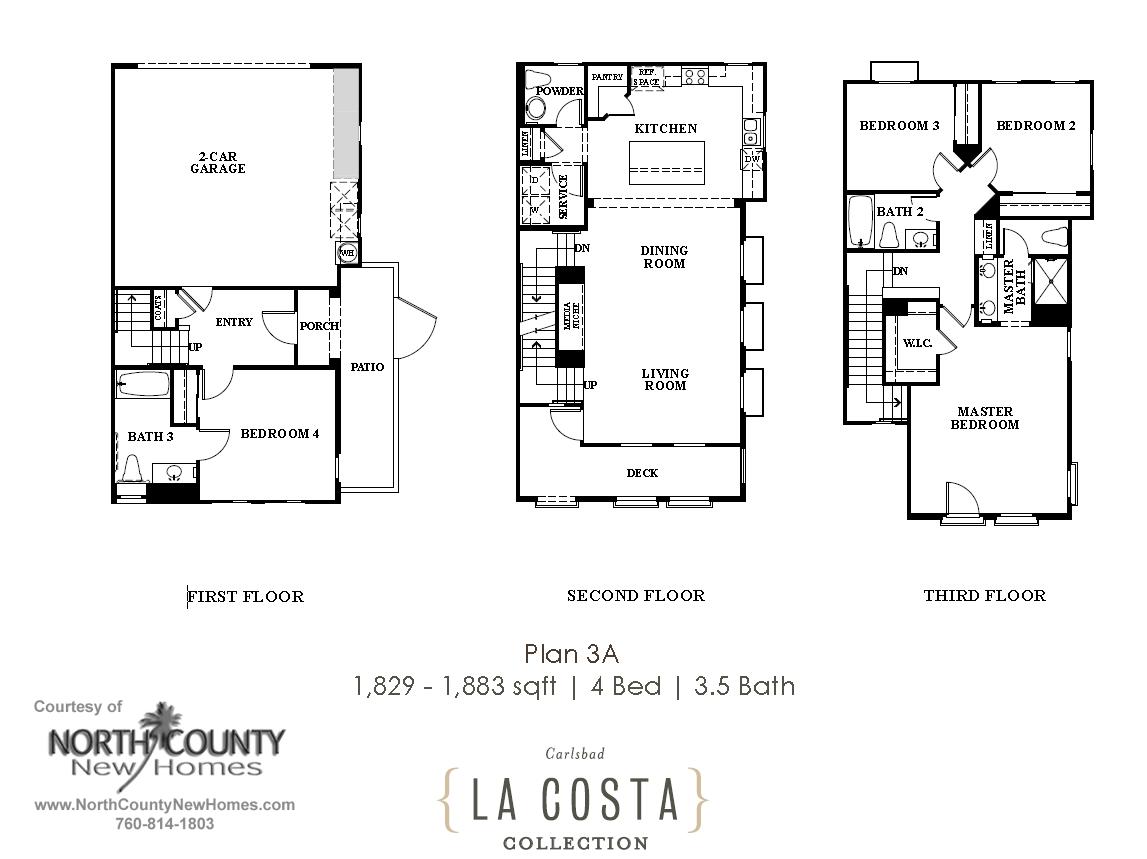 La Costa Collection Floor Plan 3A North County New Homes – Venture Homes Floor Plans