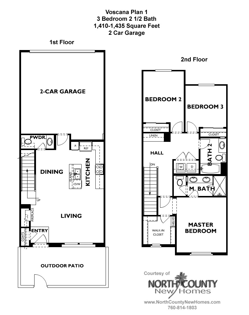 voscana new homes in carlsbad, cashea homes - floor plans