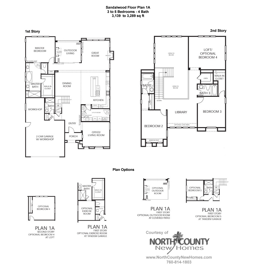 Sandalwood At La Costa Oaks Floor Plan 1a New Homes In