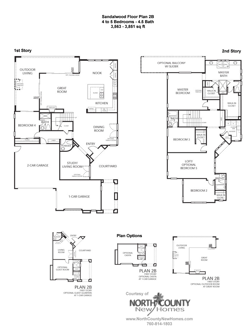 Sandalwood at la costa oaks floor plan 2b new homes in for New house plans 2013