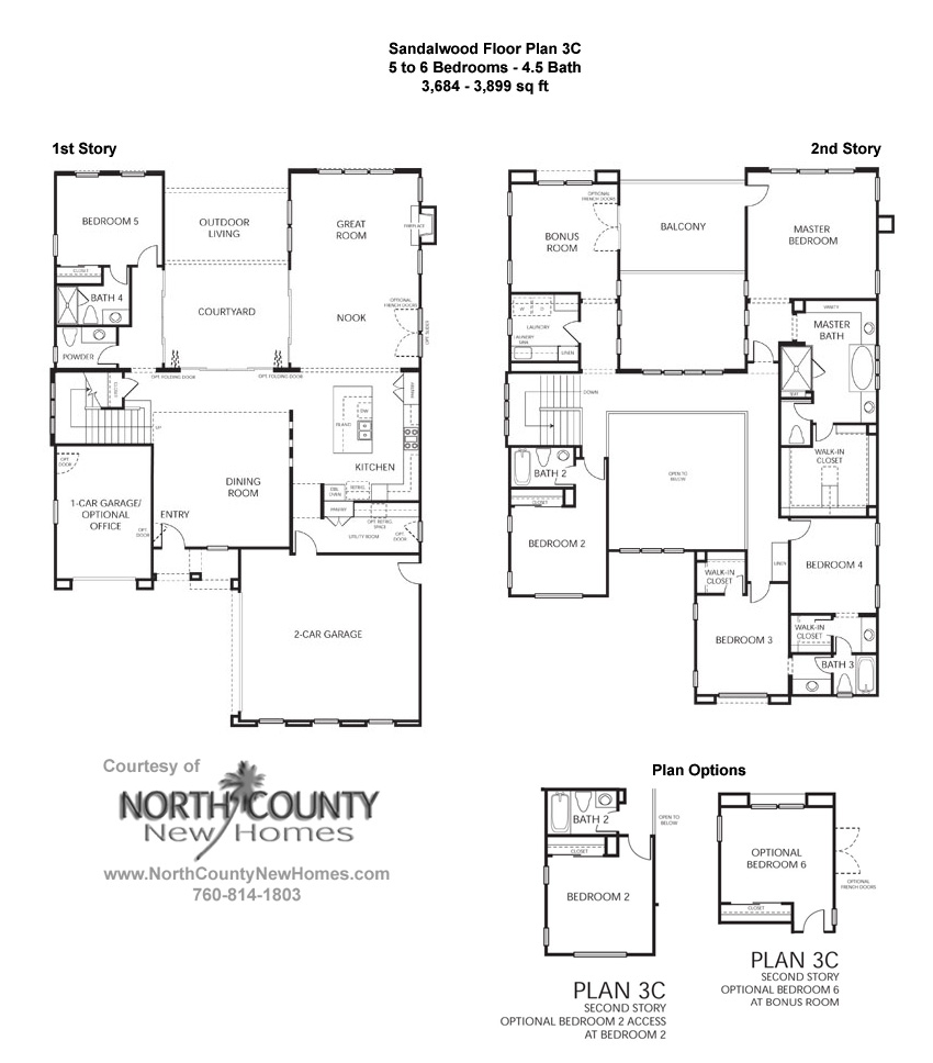 Sandalwood at la costa oaks floor plan 3 new homes in la for New home floor plans