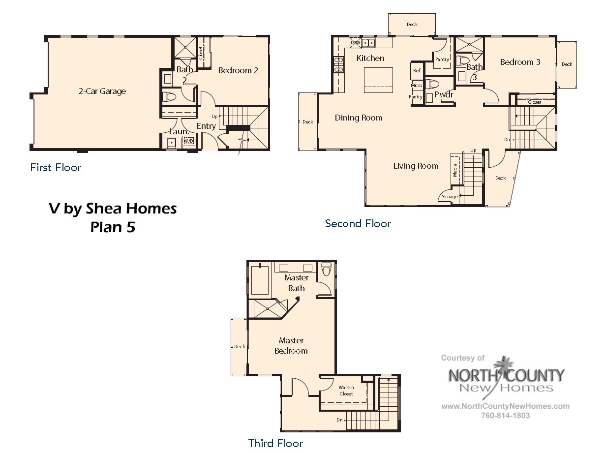 v by shea homes in leucadia floor plan 5 county