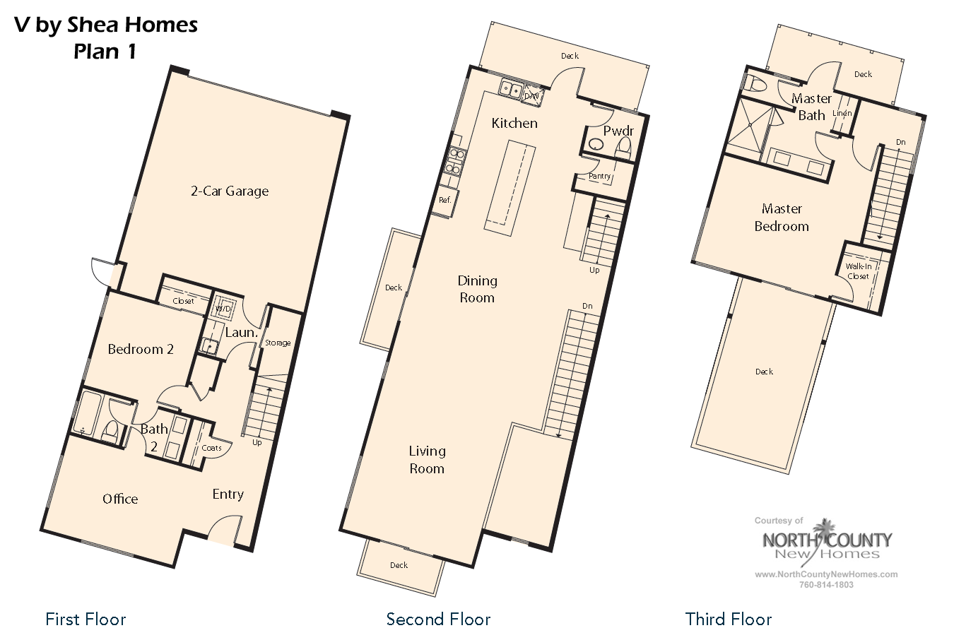 V by shea homes in leucadia floor plan 1 north county for New homes floor plans