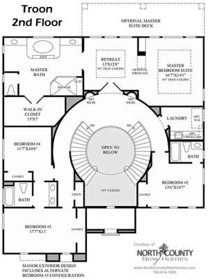 Floor plans for The Greens in Arrowood by Toll Brothers in Oceanside, CA. Find  homes for sale and real estate for sale in Oceanside, CA