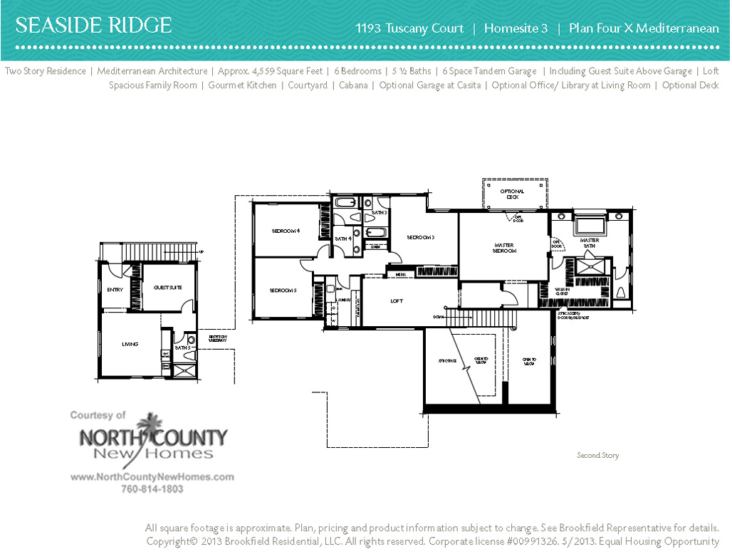Seaside ridge floor plan 4x 2nd story north county new homes for 2nd story floor plans