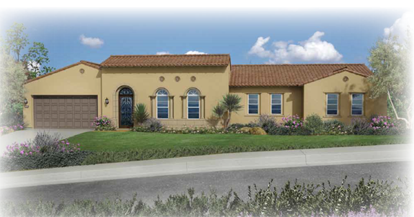 New homes in Encinitas, CA. Preliminary exterior plan 2 at Seaside Ridge in Encinitas. New construction homes for sale in Leucadia and Encinitas by Brookfield Homes