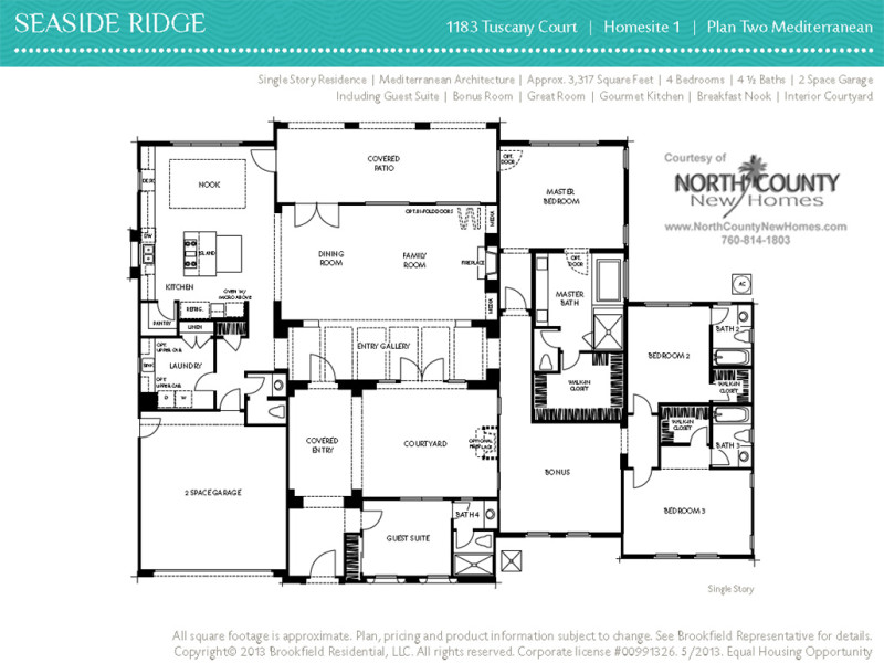 Seaside ridge floor plans for One story house plans with interior photos