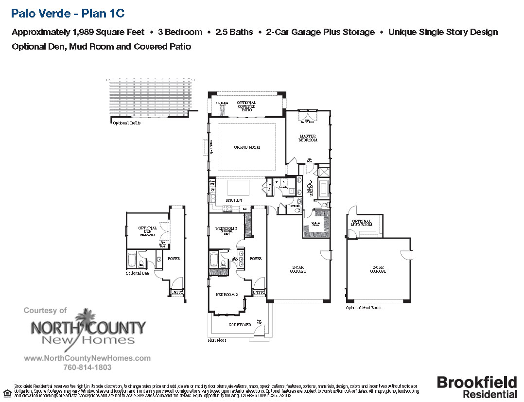 Palo verde plan 1c north county new homes for Palo verde homes floor plans
