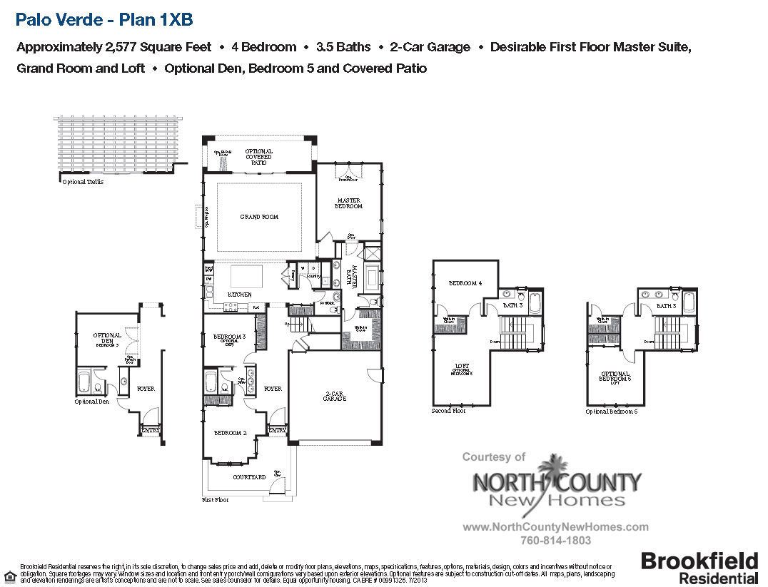 New homes in carlsbad palo verde plan 1xb 2 577 sq ft for Palo verde homes floor plans