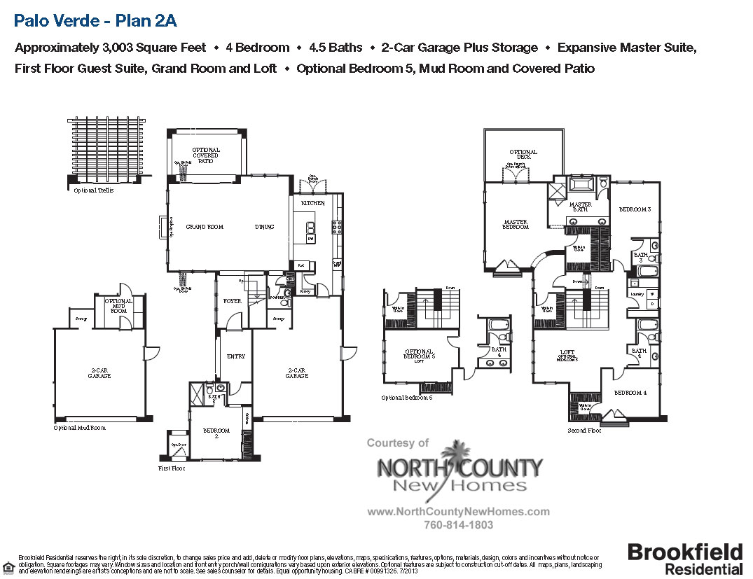 floor plan 2a palo verde carlsbad new homes