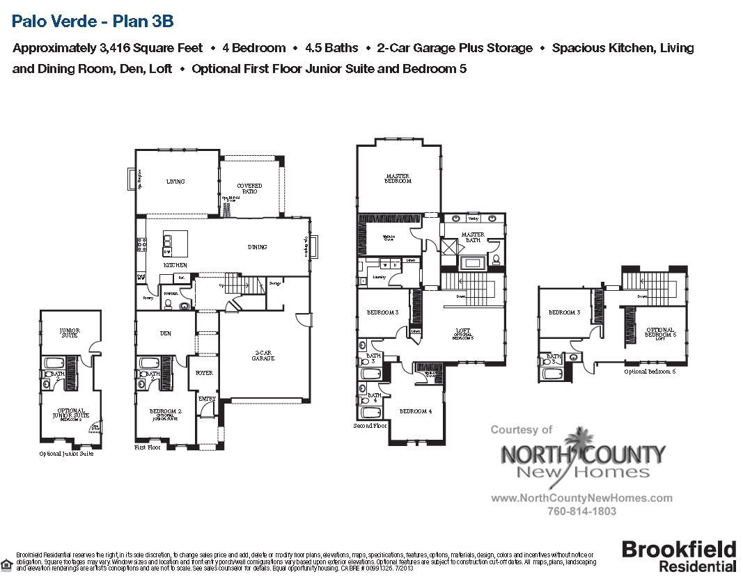 floor plan 3 palo verde new homes in carlsbad ca