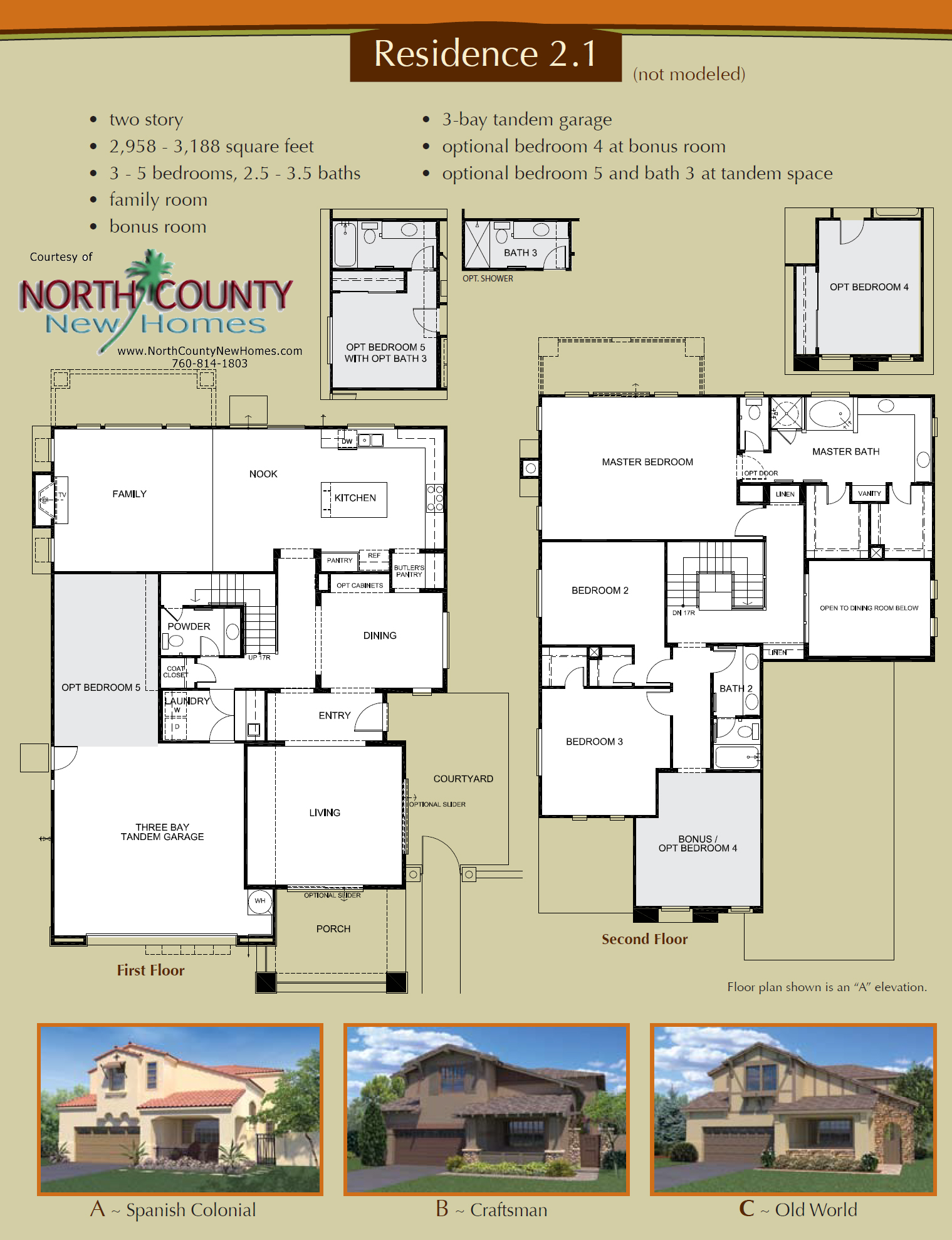 Altaire Floor Plan 2 1 New Homes For Sale In San Elijo Hills