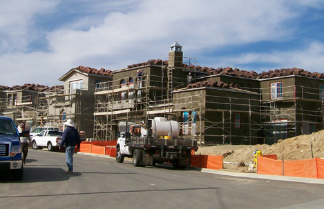 Construction progress at Arterro La Costa - new homes in La Costa
