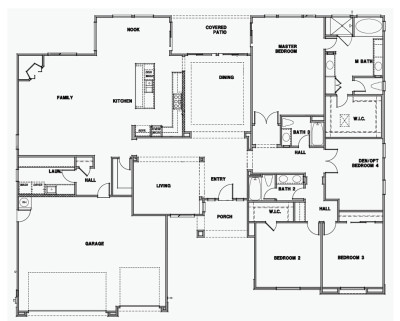 3,168sq.ft, 4 Bedroom, 3 Bath, Covered Patio, 3 Car Garage.