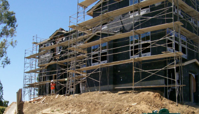 New townhomes in San Marcos construction progress.