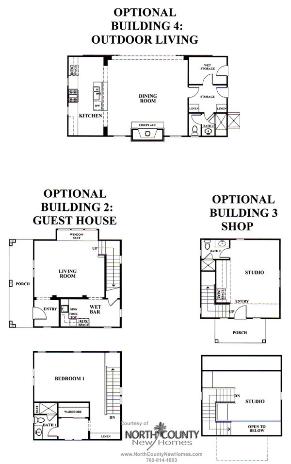 Outdoor Living, Studio, Guest Suite at Mainhouse New Homes in Encinitas