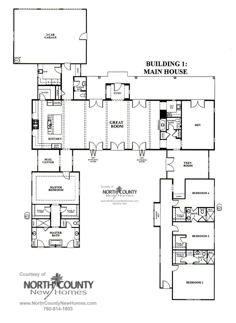 Mainhouse now selling in encinitas north county new homes for Copying house plans