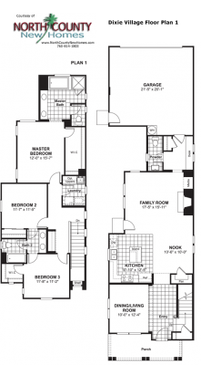 New homes in Oceanside at Dixie Village Floor Plan 1