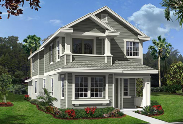 New homes in Oceanside at Dixie Village Plan 3 Exterior