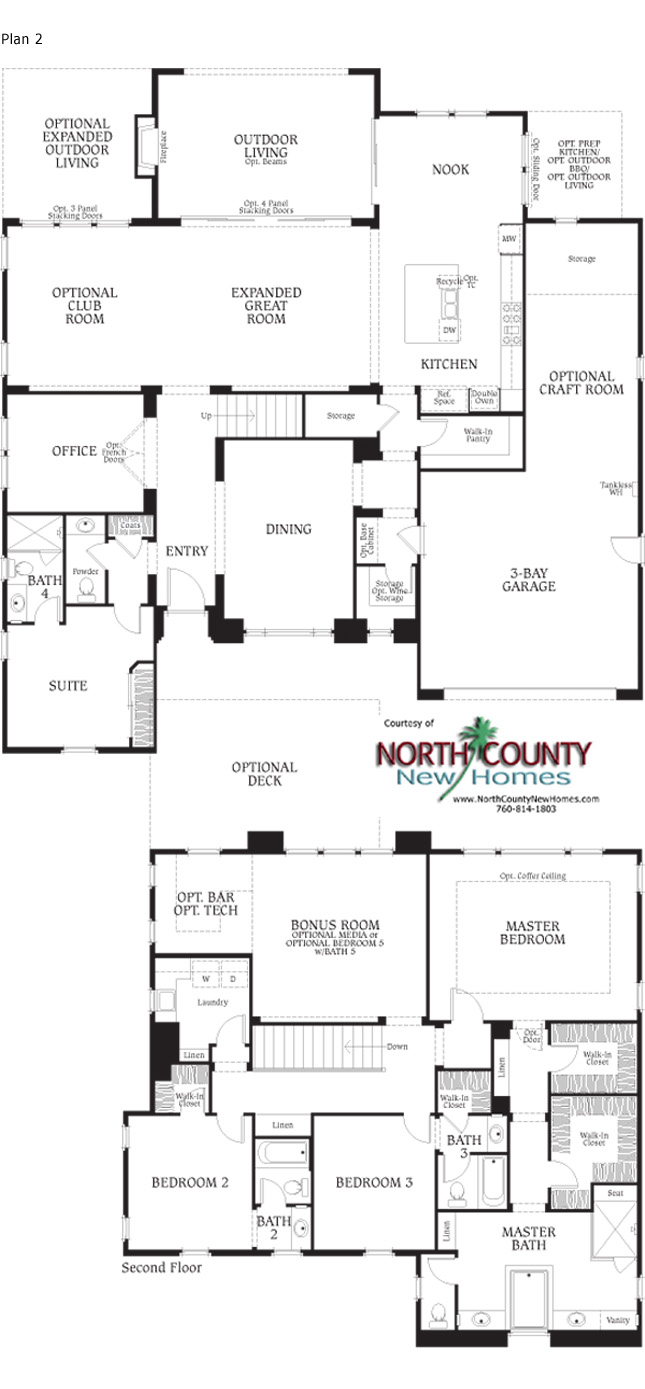southern preserve floor plans north county new homes