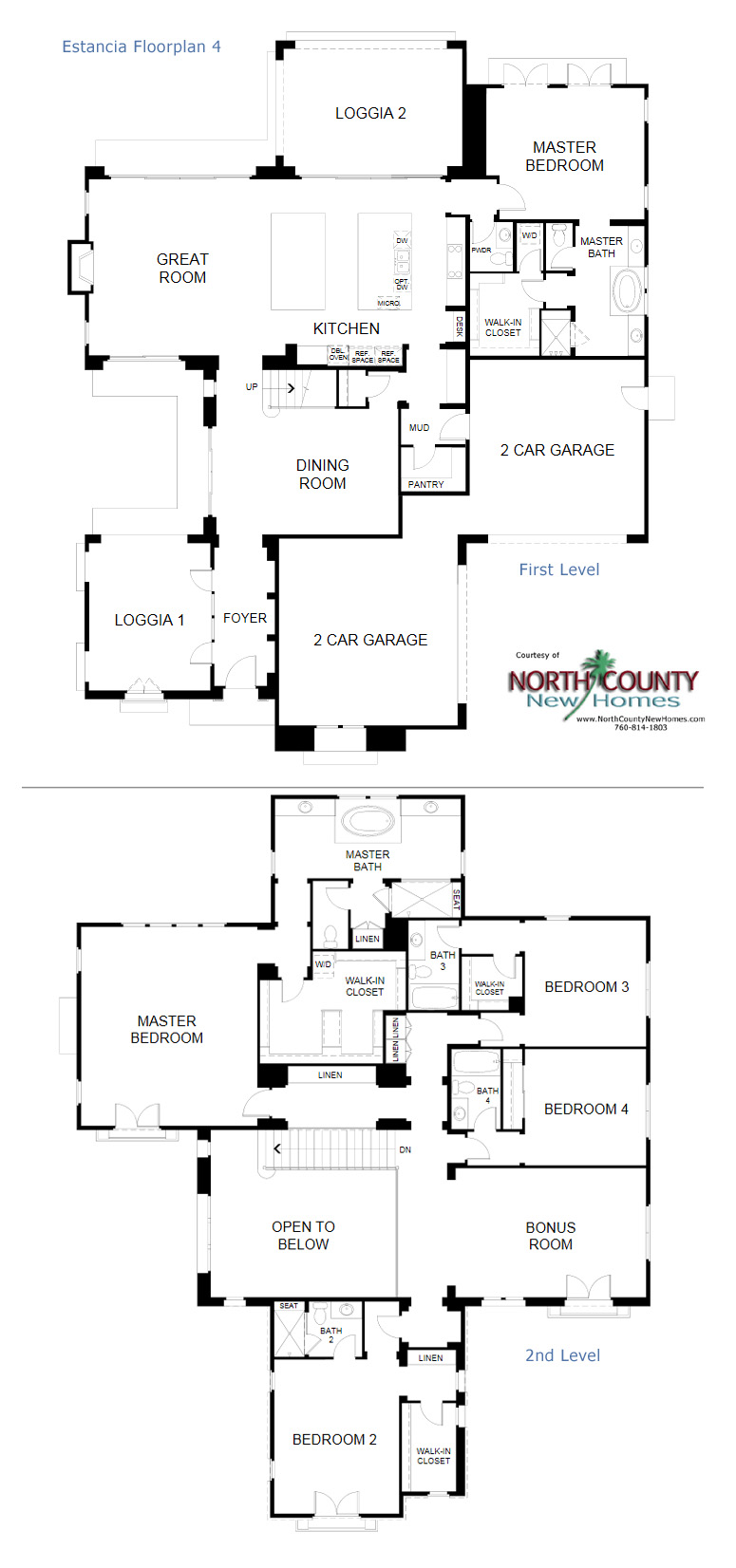 Floorplans for New homes now selling in Rancho Santa Fe... Estancia at Cielo in Rancho Santa Fe. New Construction homes in San Diego North County