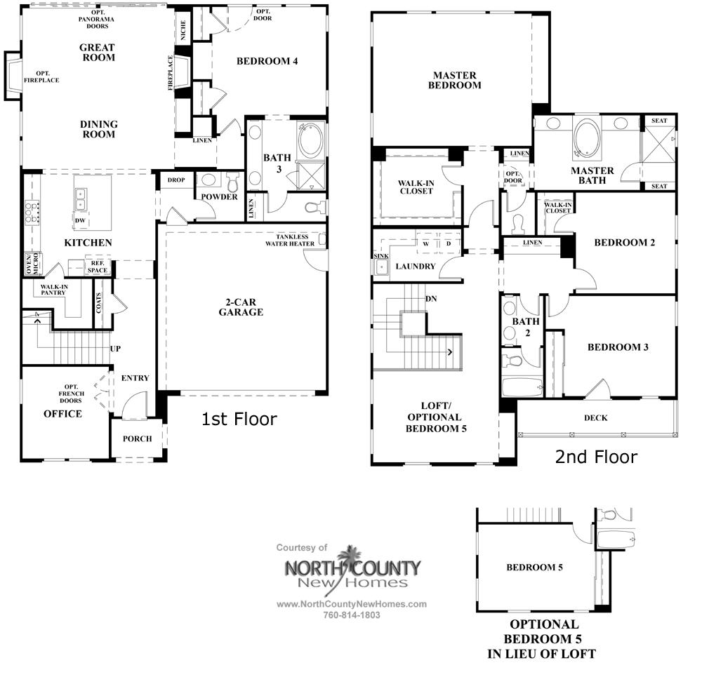 elms floor plan 2 new homes in carmel valley north county new elms floor plan 2 new homes in carmel valley