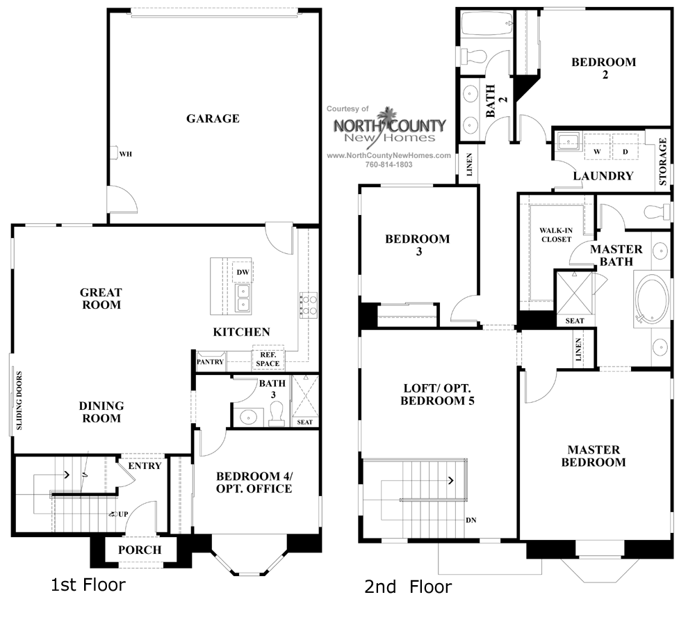 Ivy floor plan 3 new homes in carmel valley north for 3 floor plan