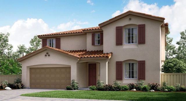 Escondido new homes for sale. Picture of exterior of 2 story home at Pradera.