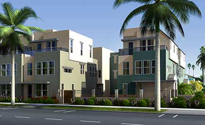 New homes new townhomes in Oceanside at Beachwalk at Cassidy. North County  San Diego new