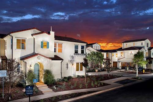 Picture of Avery Pointe at Veridian. New homes in Del Sur area North County San Diego. New Townhomes for sale.