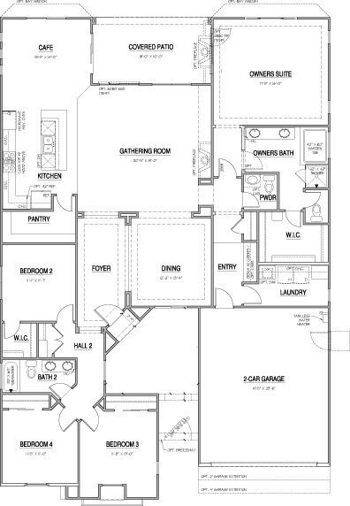 Floor plan 1 at Vista Pointe in Vista, CA. New homes for sale in Vista. Single Story Home.