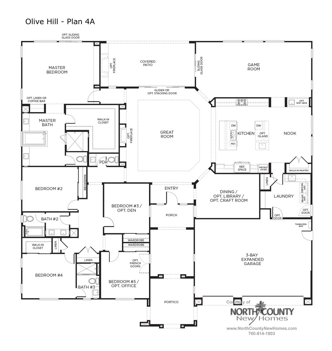 Olive hill floor plans new homes in bonsall north for Houses for sale with floor plans