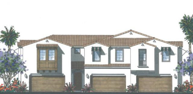 Brisas at Pacific Ridge. New homes in Oceanside. Tri-plex Homes