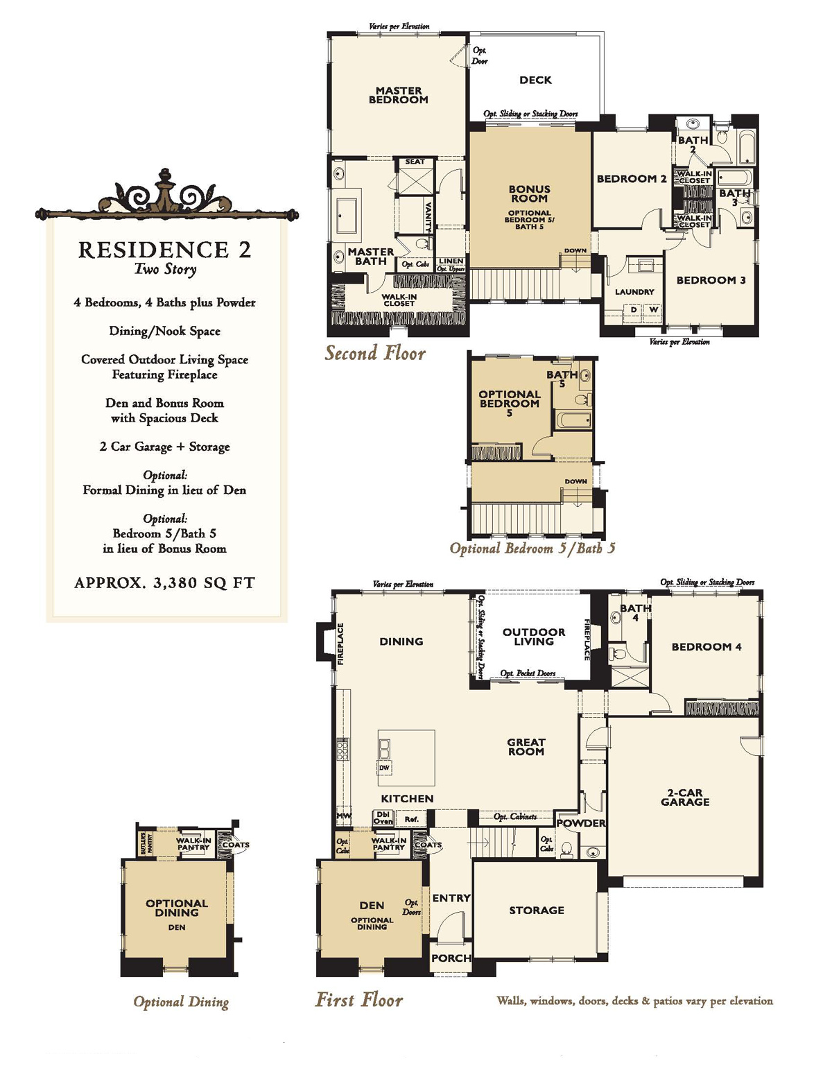New homes at enclave rancho santa fe floor plans north for Santa fe house plans