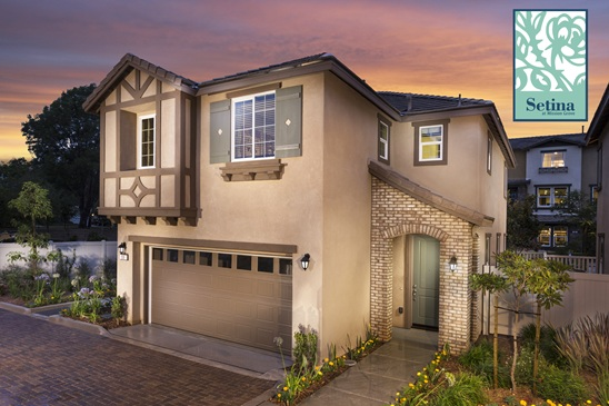 New Homes and townhomes for sale in San Marcos, CA at Setina and Caprice at Mission Grove