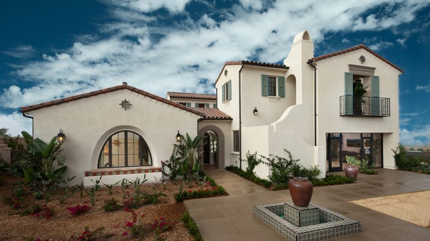 New construction homes for sale in Rancho Santa Fe at Upper Cielo.