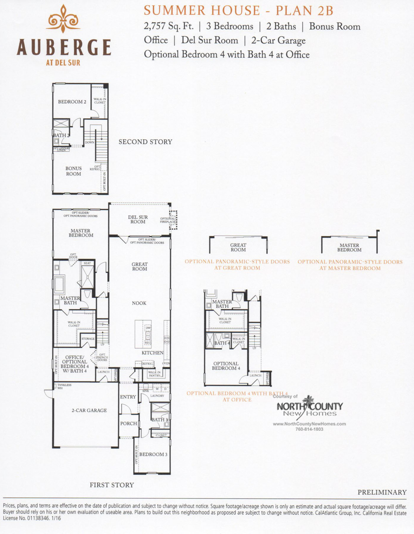 auberge at del sur summer house floor plans north county