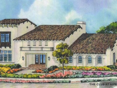 The Club recreation center Auberge at Del Sur. New homes in 55+ gated community in San Diego