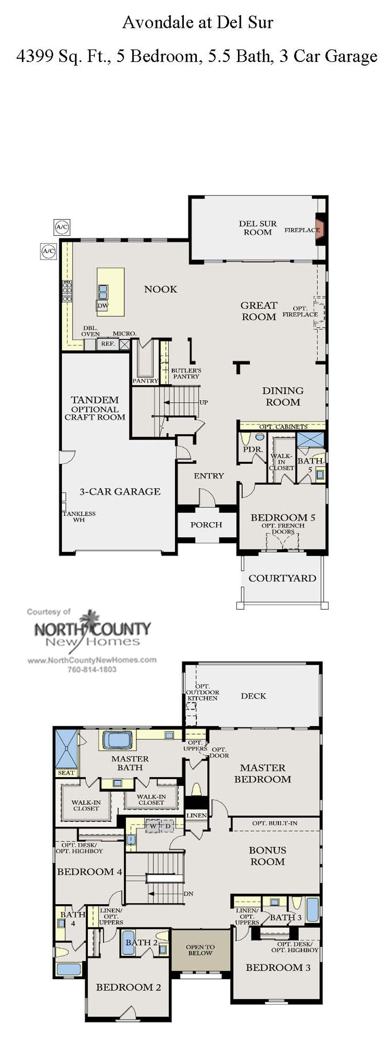 Avondale at del sur floor plans new homes in del sur Avondale house plan