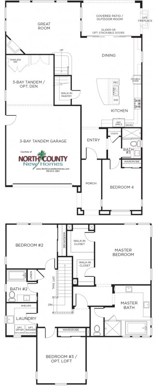 New homes in San Diego and Carmel Valley area. Casabella New Homes Floor Plan 2AR.