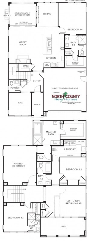 New homes in San Diego and Carmel Valley area. Casabella New Homes Floor Plan 4XB