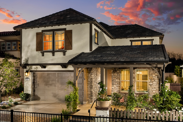 New homes in San Diego at Pacific Highlands Ranch. Casabella exterior of Plan 3