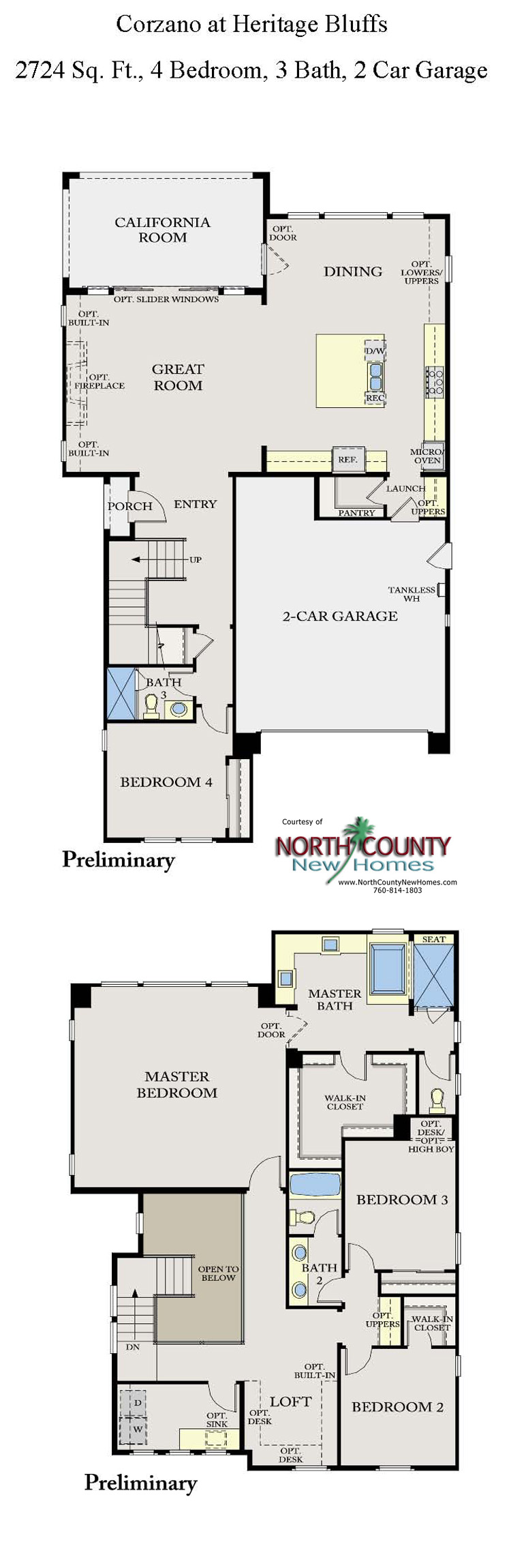 corzano new homes in san diego floor plans