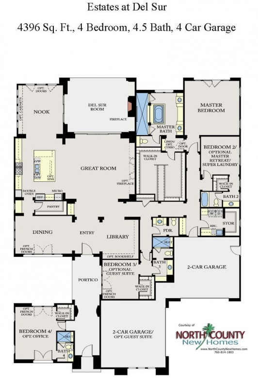 The Estates at Del Sur New Homes Floor Plan 1. New homes in San Diego. Single story homes