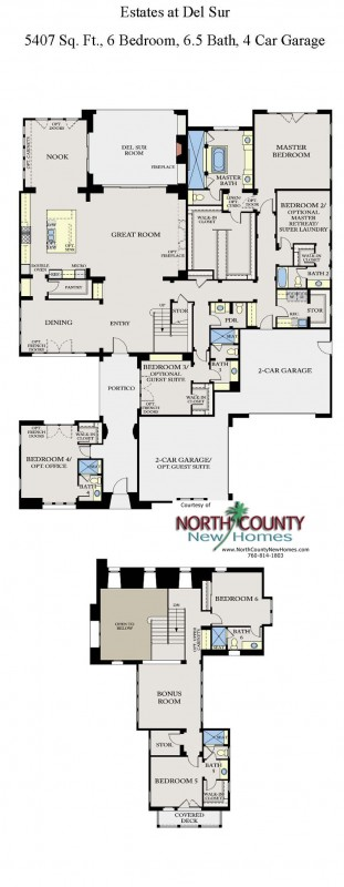 The Estates at Del Sur New Homes Floor Plan 1x. New homes in San Diego. Single story homes