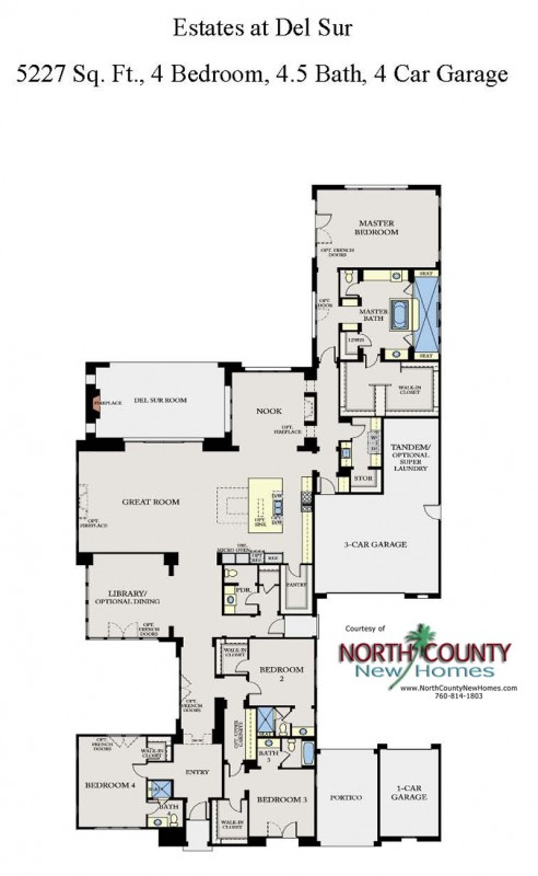 The Estates at Del Sur New Homes Floor Plan 2. New homes in San Diego. Single story homes
