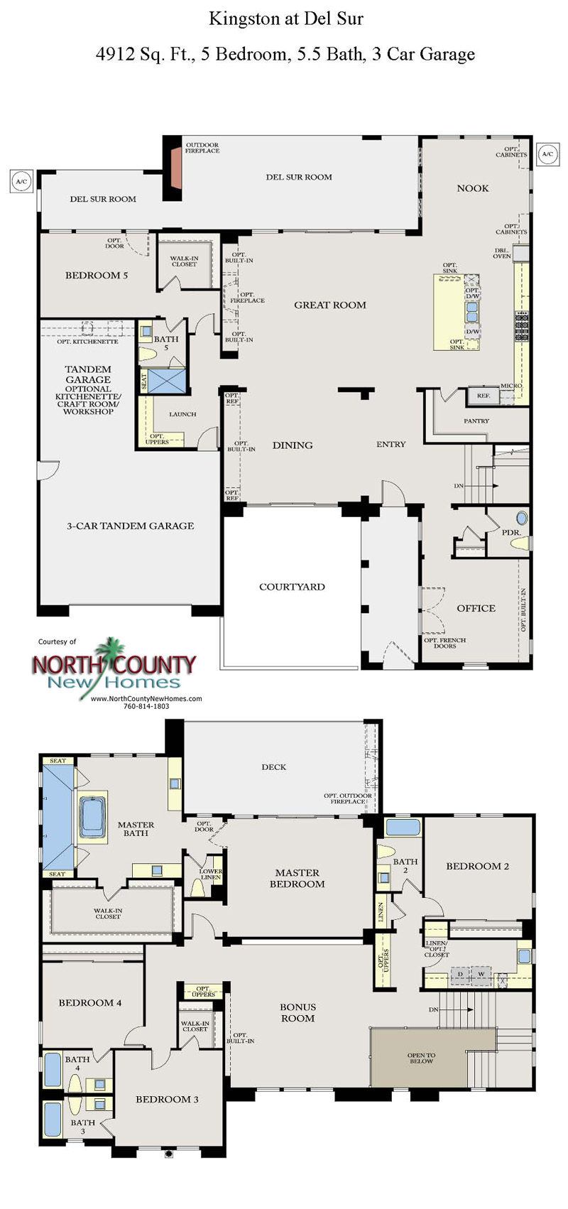 Kingston At Del Sur New Homes Floor Plan 1. New Homes In San Diego Pictures Gallery