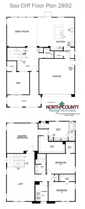 New homes in Rancho Penasquitos at Sea Cliff by KB Home. New home floor plans at Sea Cliff. Floor Plan